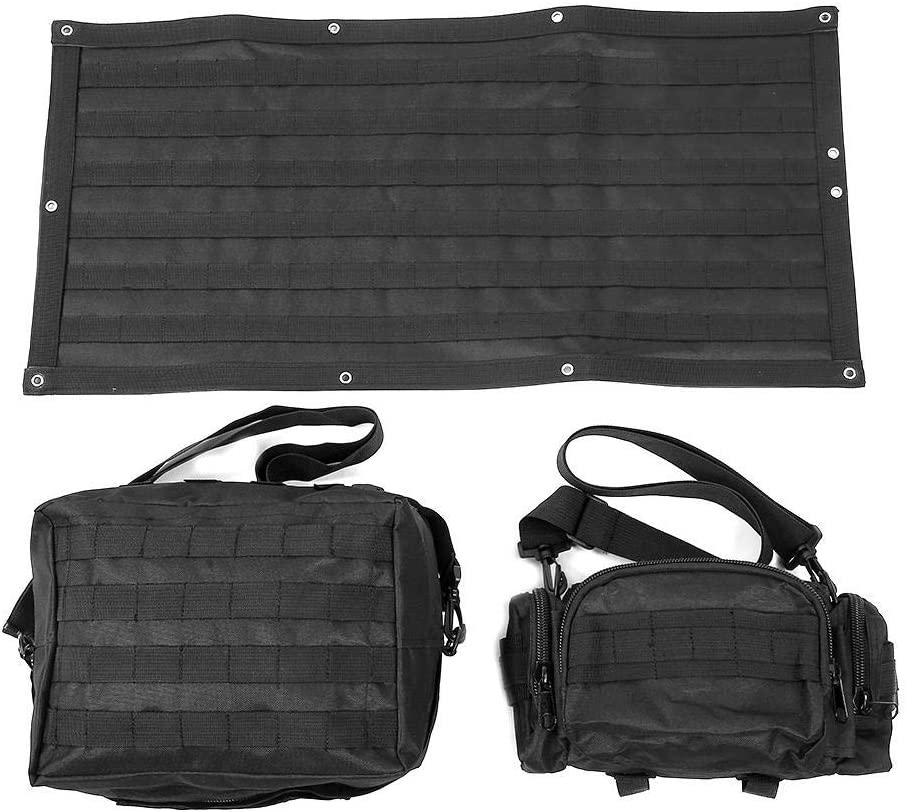 Tailgate Pocket Fits for Jeep Wrangler JK 2007-2015, 3pcs Car Tailgate Tool Kit Bag Organizer