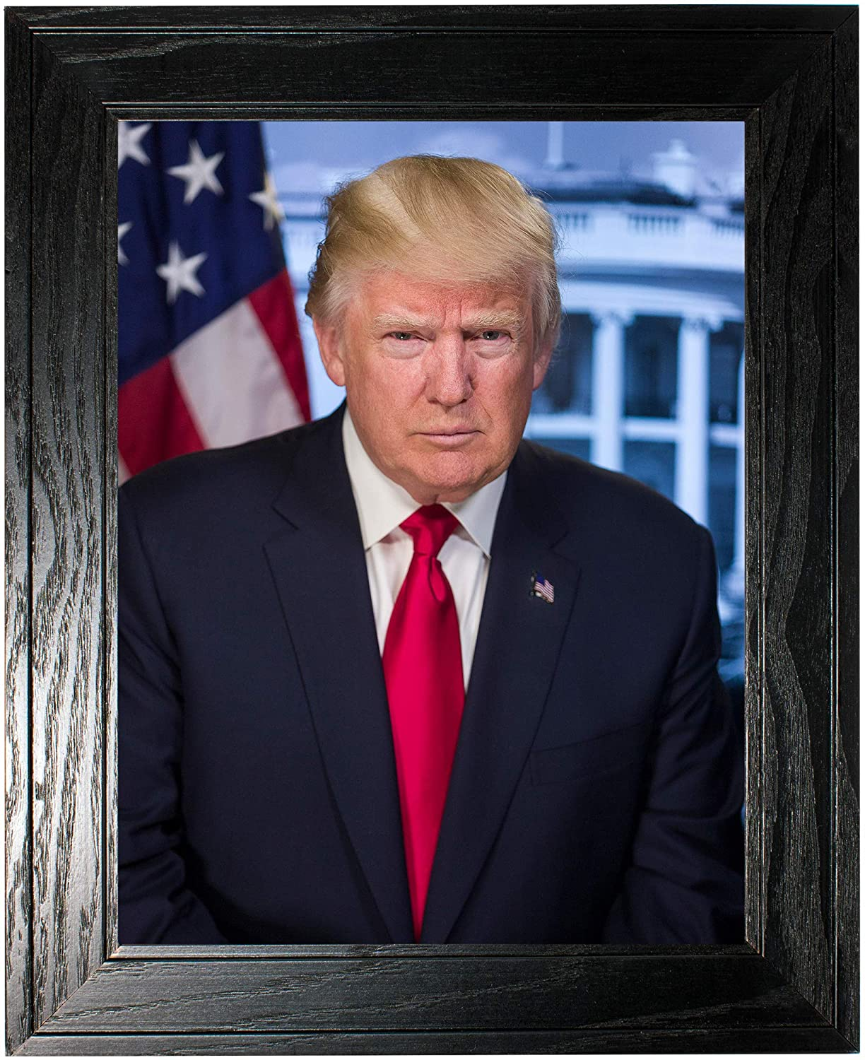 Donald Trump Photograph in a Black Pine Frame - Historical Artwork from 2016 - (20