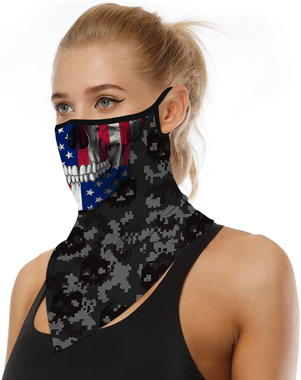 Face Scarf Bandanas Ear Loops Men Women Outdoor Mask Balaclava Neck Gaiters