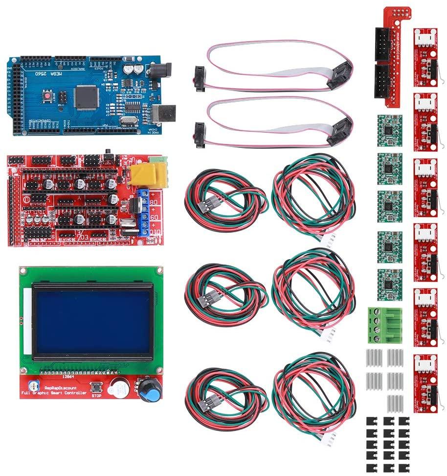 3D Printer Kit for Reprap Printer, RAMPS 1.4 Board 3D Printer Interface & Driver Modules, A4988 Chip Board ABS Material