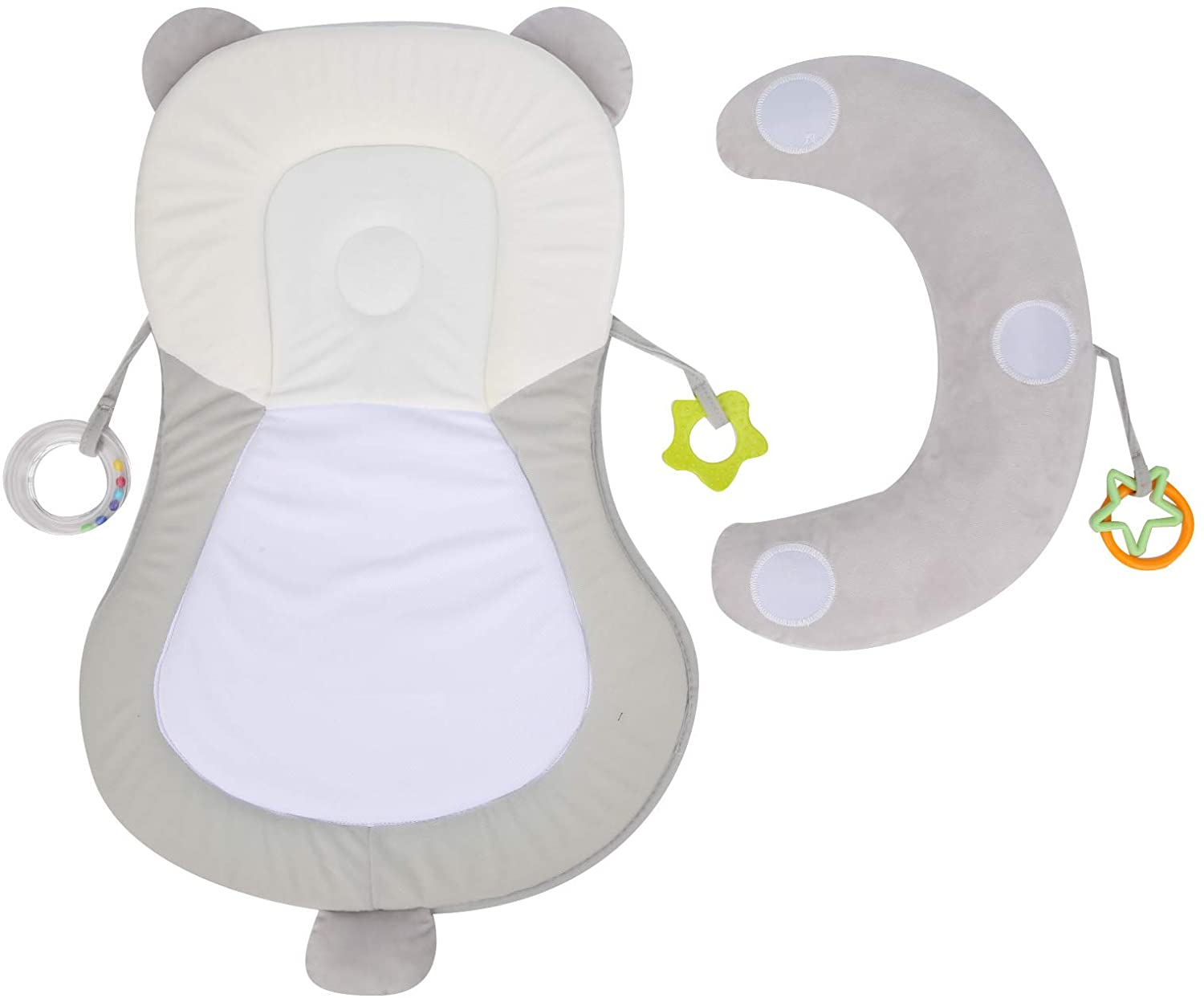 Bicaquu Breathable Baby Head Support Pillow Baby Car Seat Pad for Home Travel