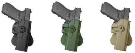 IMI RSR Hand Gun Polymer Retention Roto Holster for Glock 17/22/31 Black