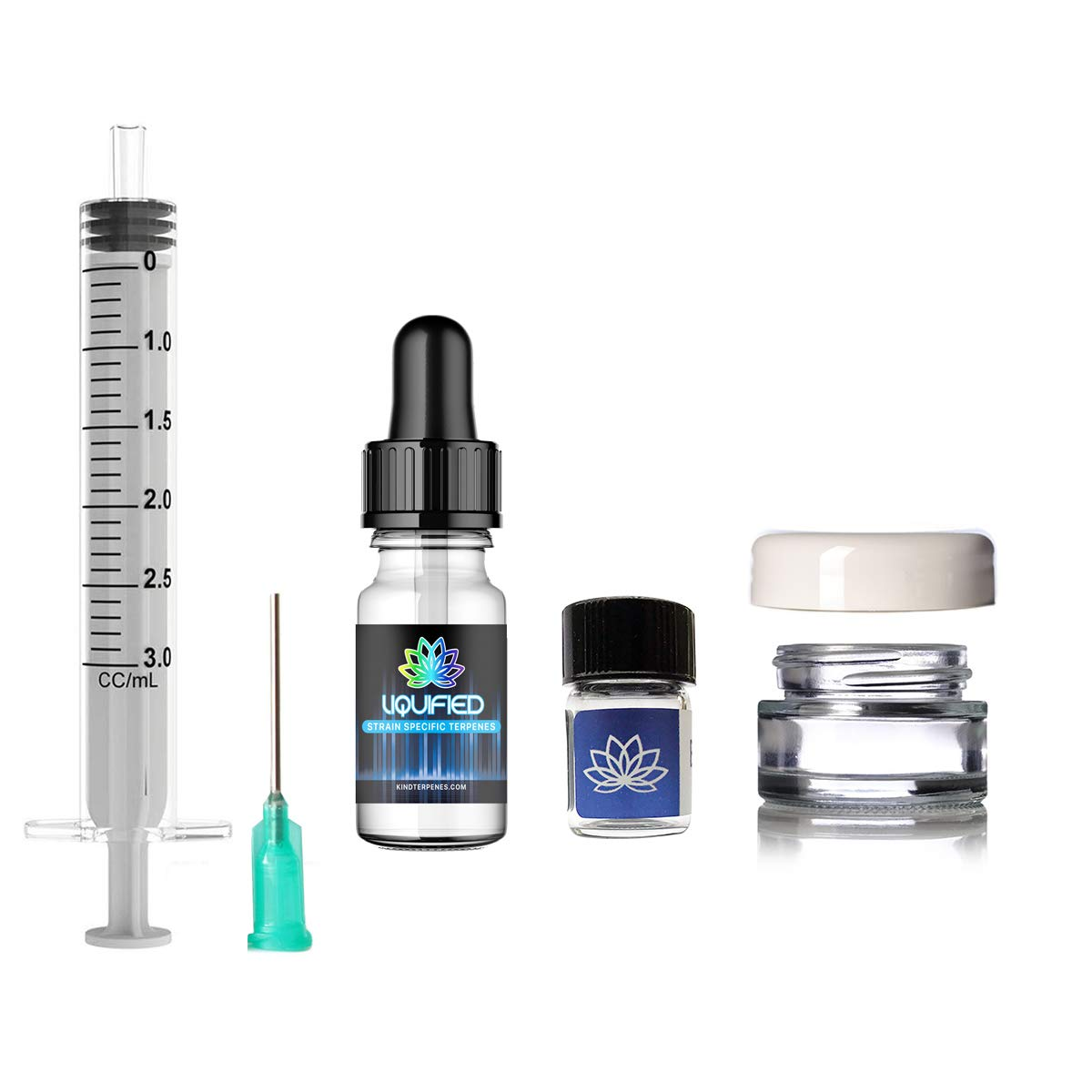 Kind Terpenes - Terpene Liquidizer Kit (10 ml Flavorless) + 1 ml Terpenes [100% All Natural Liquidizer Solution for Extracts, Eliminate the Use of PEG, PG, VG] (Super Grape)