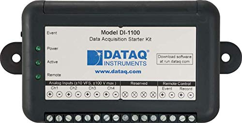 Dataq Instruments DI-1100 4-Channel USB Data Acquisition Starter Kit with 12-bit ADC Resolution and Sample Rate of 20,000 to 40,000 S/s/Ch
