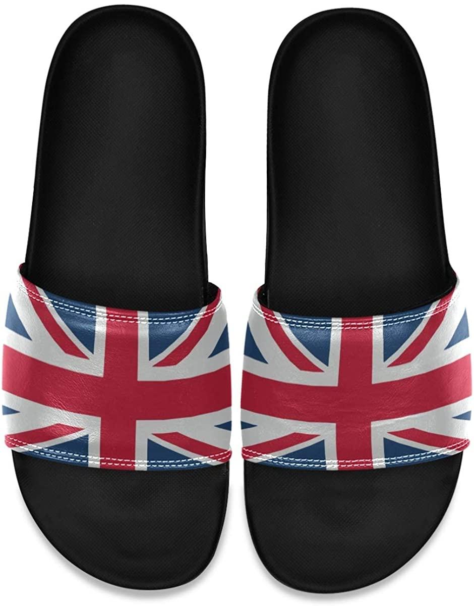 Ladninag Blur Tropical Beach Pineapple Mens Indoor Outdoor Bedroom Slippers Adjustable Sandals