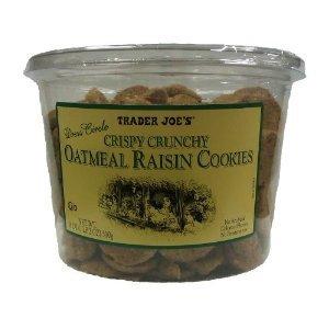 2-pack Trader Joes Crispy Crunchy Oatmeal Raisin Cookies