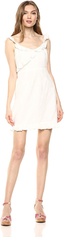 BB Dakota Women's Say No More Cotton Jacquard Dot Dress