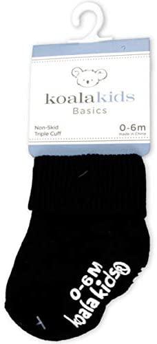 Koala Kids Basics Black Socks 0 6 Months Of Age