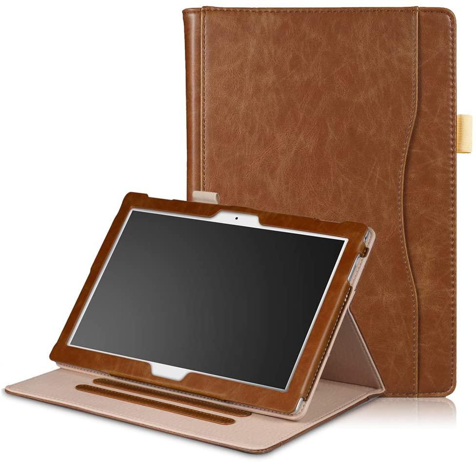 for Lenovo Tab E10 TB-X104F/10.1 inch (TB-X804F)/Moto tab (TB-X704A)/TAB4 10 (TB-X304F/N)/TAB4 10 Plus (TB-X704F/N) Inner Frame Front Bracket.(with Sleep) (Tab E10 TB-X104F,Coffee)