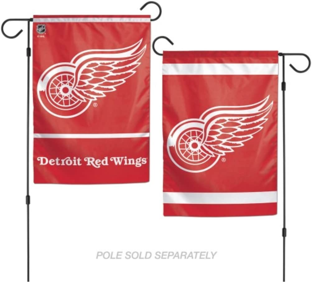 NHL Detroit Red Wings Hockey 12x18 Inch 2-Sided Outdoor Garden Flag