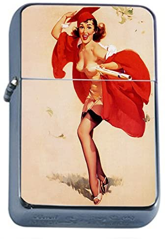 Vintage Retro Sexy Bridesmaid Party Oil Lighter Pin Up Girl-110
