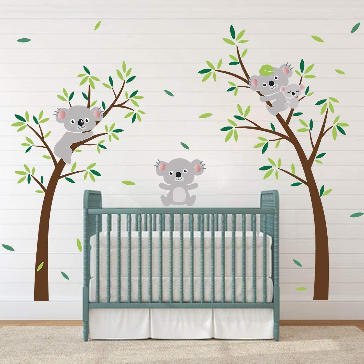 ufengke Koala Tree Wall Stickers Animal DIY Wall Decals Art Decor for Kids Bedroom Nursery Living Room