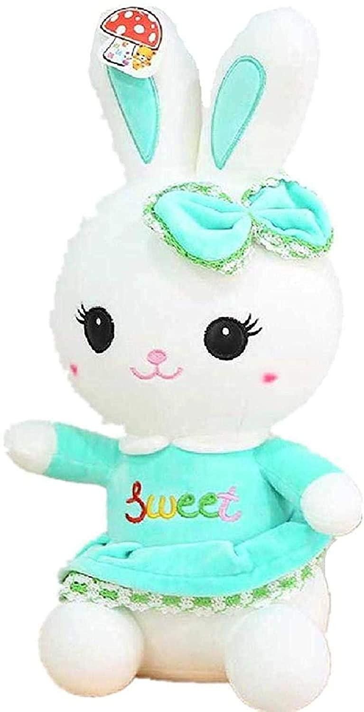 N-T Soft Toys Skirt Rabbit Plush Toy Cute Lovely Gifts Doll Girl Doll 50Cm Green