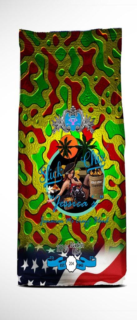 SlickChix Jessica Jamaican me Crazy Premier Gourmet Coffee Blend Sixteen Ounce Bag
