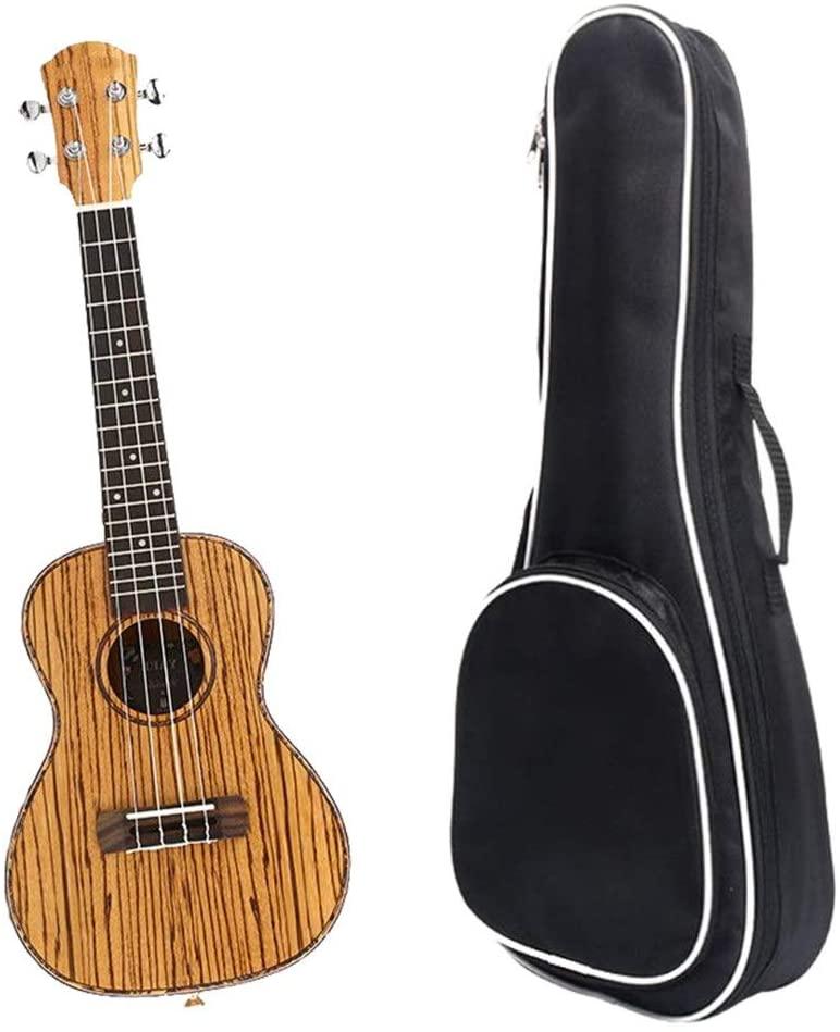 Rnwen Ukuleles Wood 23 Inches Traditional Concert Ukulele Uke Hawaii Kids Small Guitar with Gig Bag for Kids Adults Students Beginners Ukulele (Color : Wood, Size : 23 inches)