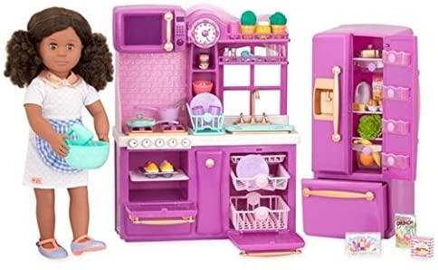 Our Generation Gourmet Kitchen Set, Purple, For 18 Dolls