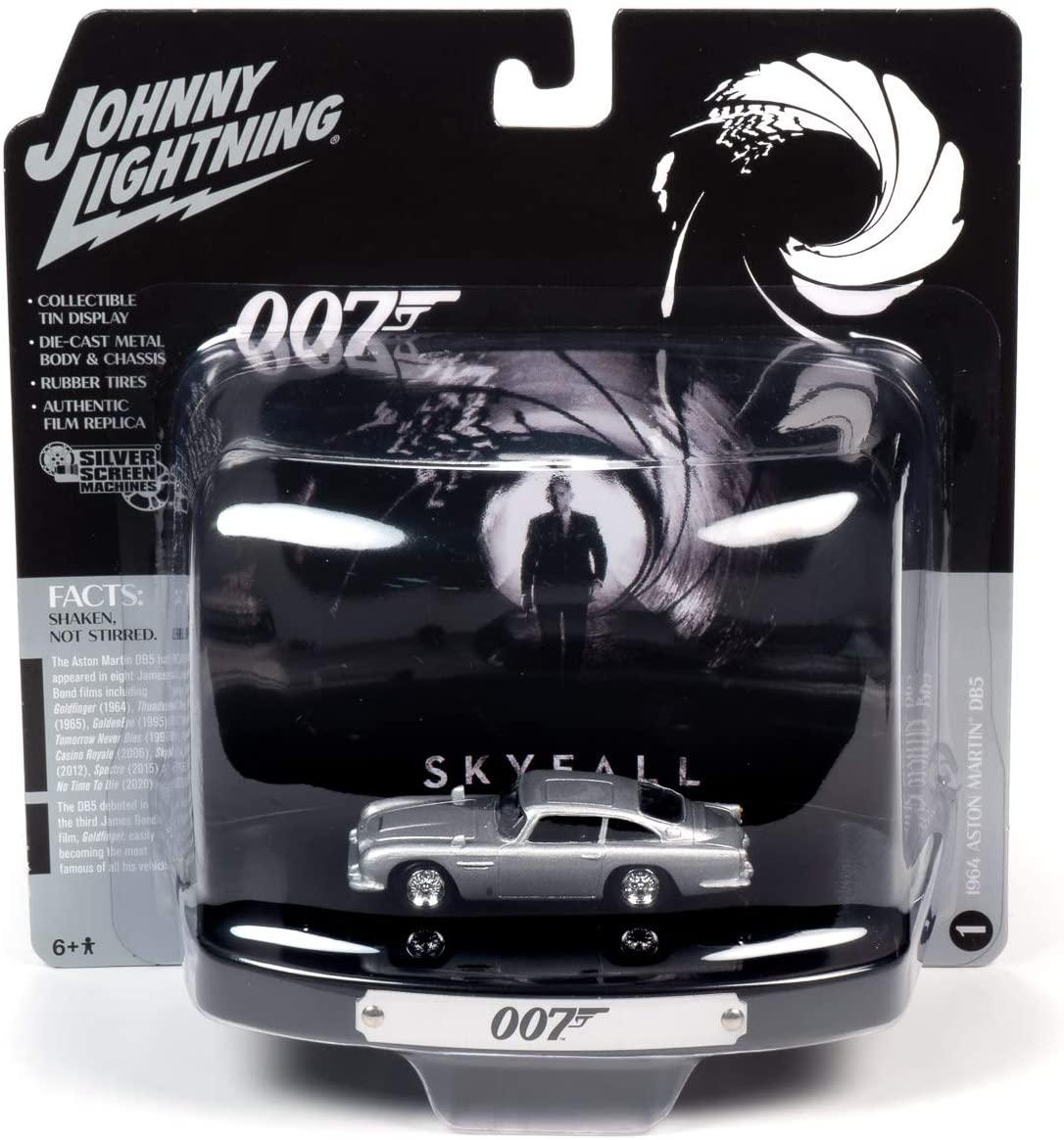 1964 Aston Martin DB5 Silver Birch w/Collectible Tin Display 007
