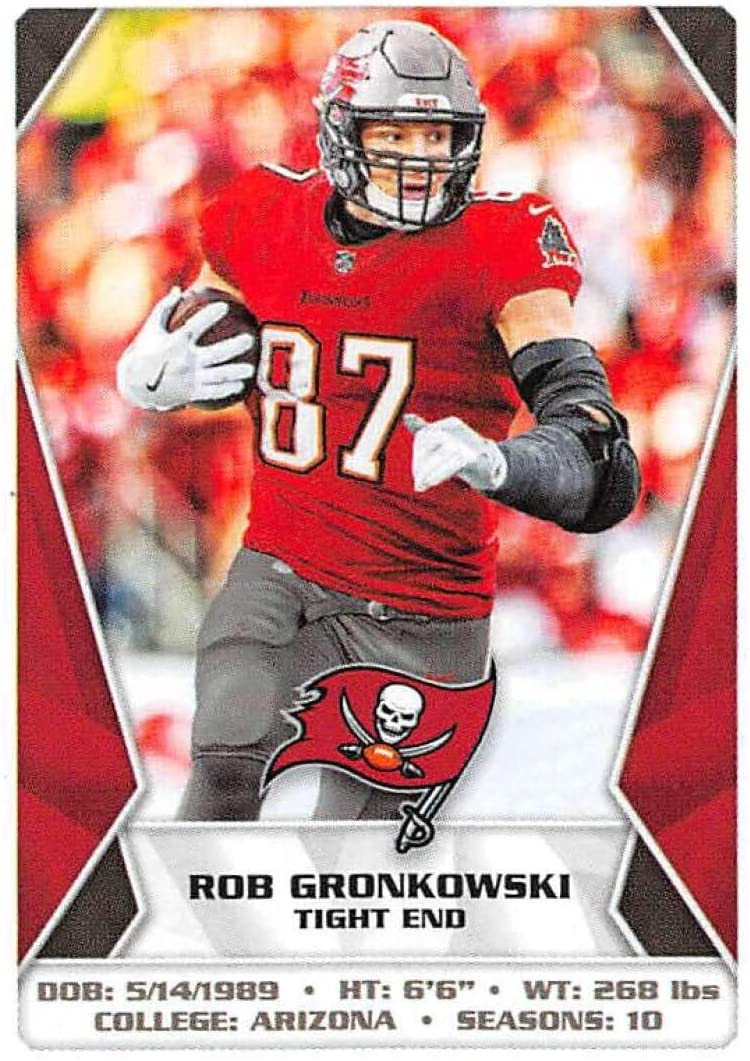 2020 Panini NFL Stickers Football #478 Rob Gronkowski Tampa Bay Buccaneers Official 1.5 X 2.5 Inch Album Sticker