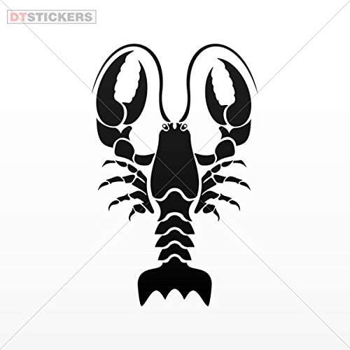 Vinyl Sticker Decal Lobster Sea Food Shop Decoration ATV Car Garage Bike 8 X 5.08 in.