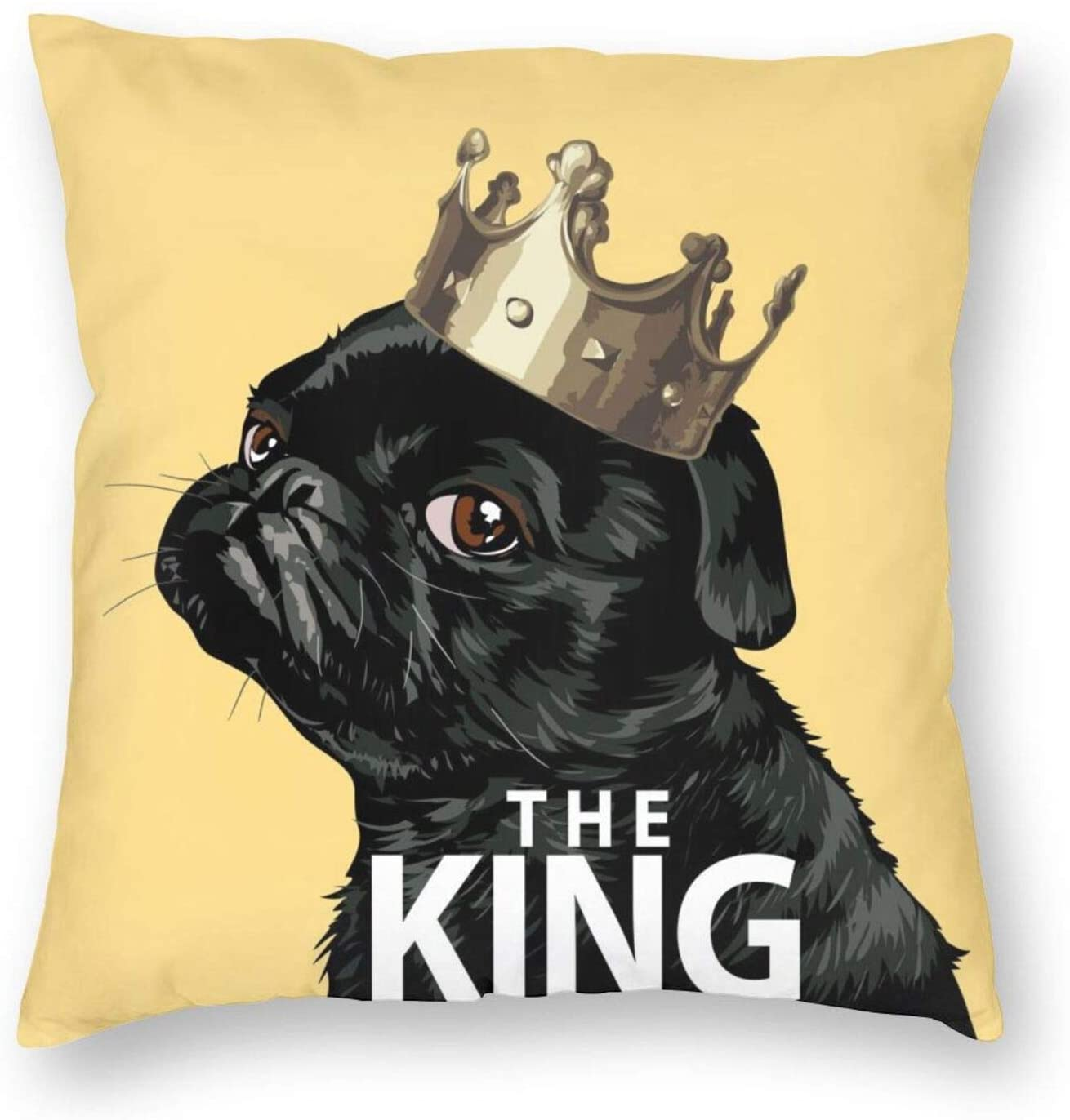 NN/AA Dog Pattern Throw Pillow Covers Cute Cartoon Animals Square Pillows Case Decorative Bedroom Livingroom Sofa with Zipper 18x18 Inch 45x45 cm