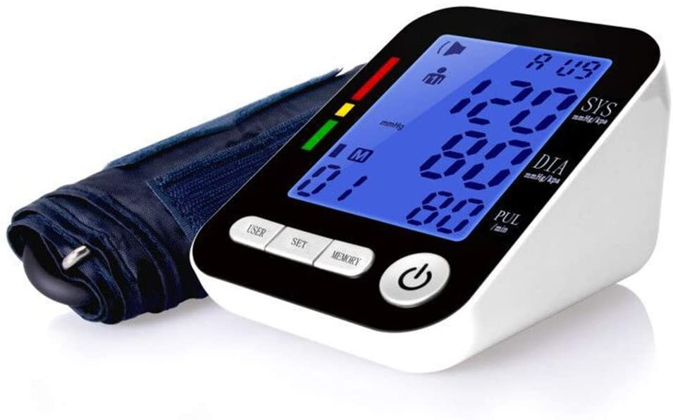 YXIUER Blood Pressure Monitor � Clinically Accurate & Fast Reading, Reading Memory Automatic Upper Arm Digital BP Monitor with Large Display & Buttons, Wide Range Cuff,with USB Charging
