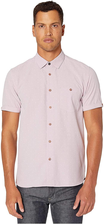 Ted Baker Bronze Short Sleeve Diamond Polynosic Shirt