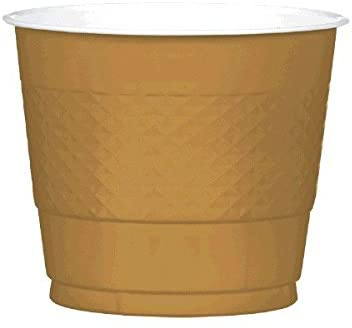 Gold Sparkle Plastic Cups | 9 oz. | Pack of 20 | Party Supply