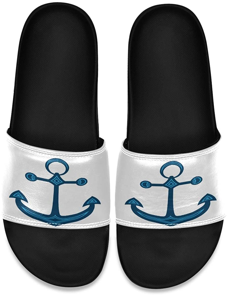 Four Starfish On Black Sand Beach Mens Indoor Outdoor Bedroom Slippers Adjustable Sandals