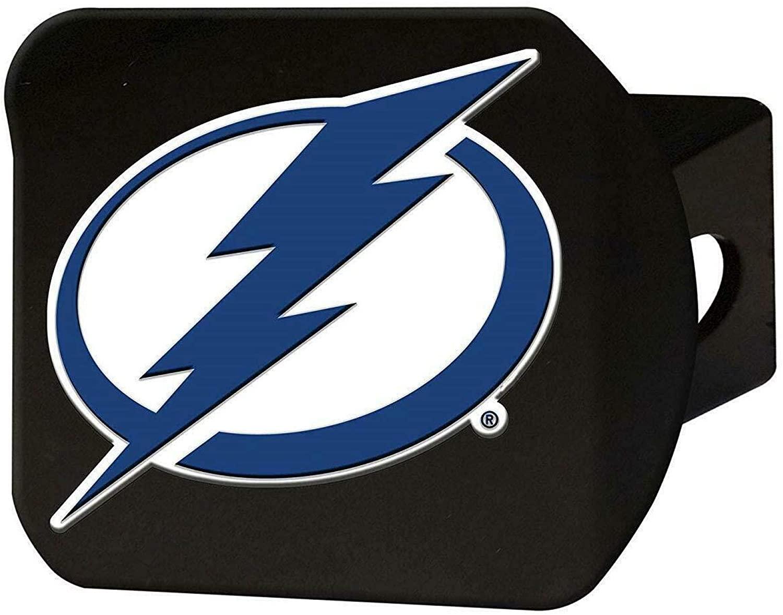 SLS FANMats Tampa Bay Lightning Premium Black Heavy Duty Solid Metal Color Hitch Cover Bumper Trailer Hockey