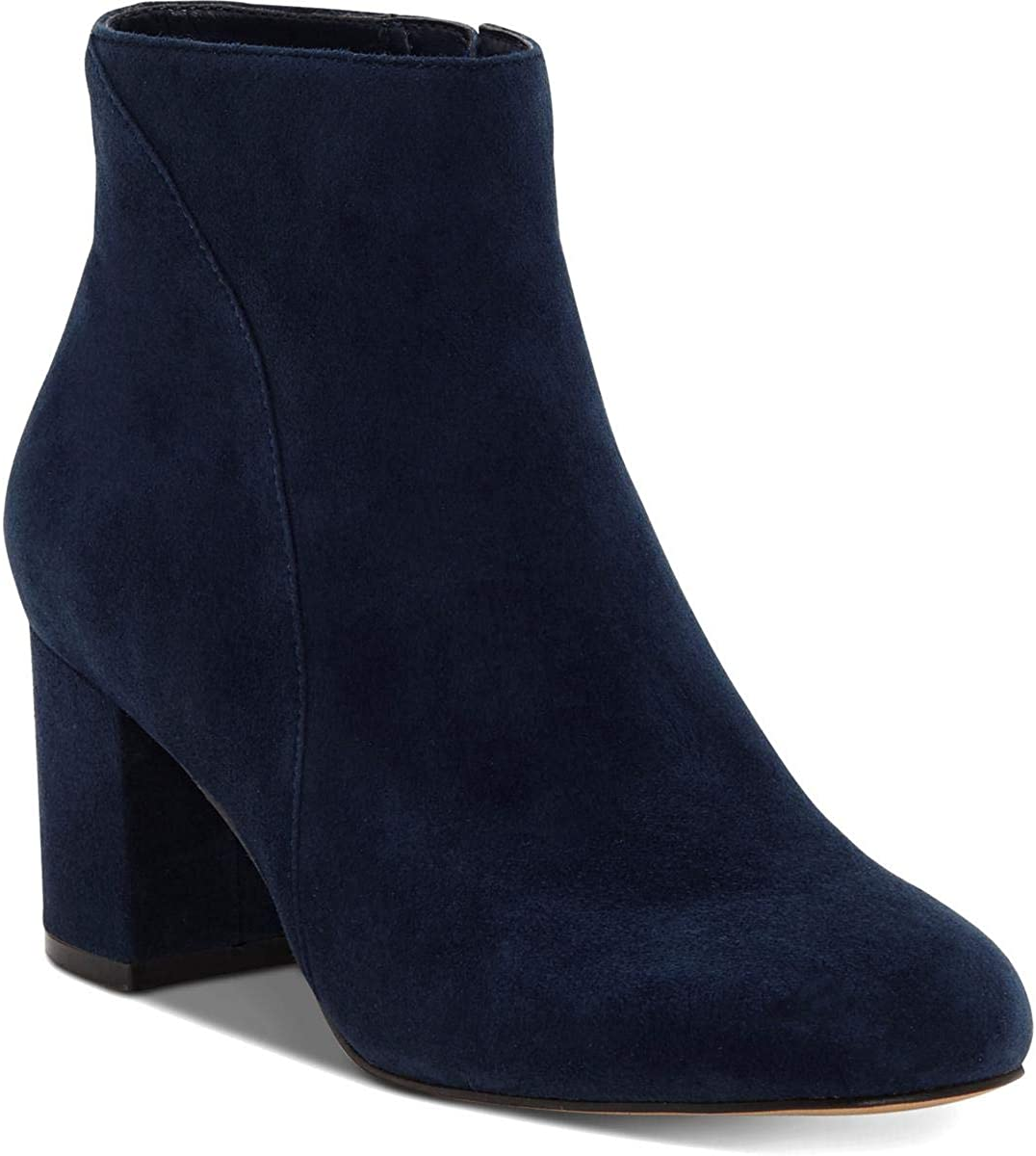 INC Womens Floriann Suede Booties Ankle Boots Navy 6 Medium (B,M)