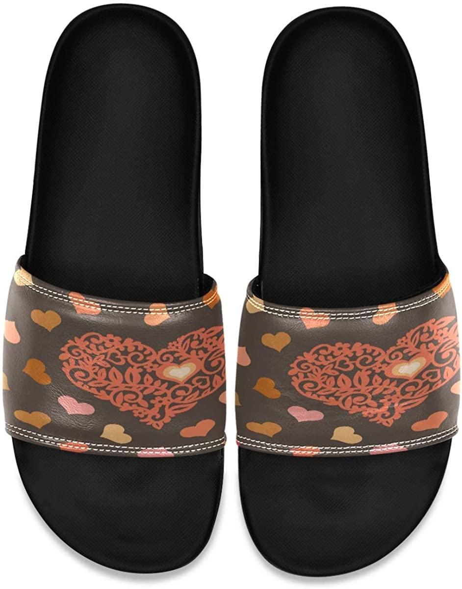 Vintage Lotus Ethnic African Elephant Mens Indoor Outdoor Bedroom Slippers Adjustable Sandals