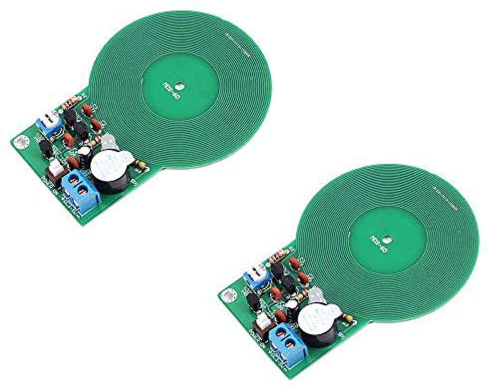 Ximimark 2Pcs Metal Detector Kit Electronic Soldering Practice Kit Non-Contact Sensor Board Module Electronic Part Metal Detector DIY DC 3V-5V 60mm