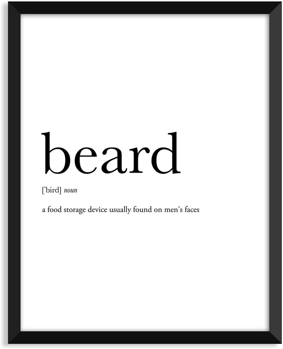 Serif Design Studios Beard Definition - Unframed Art Print Poster Or Greeting Card