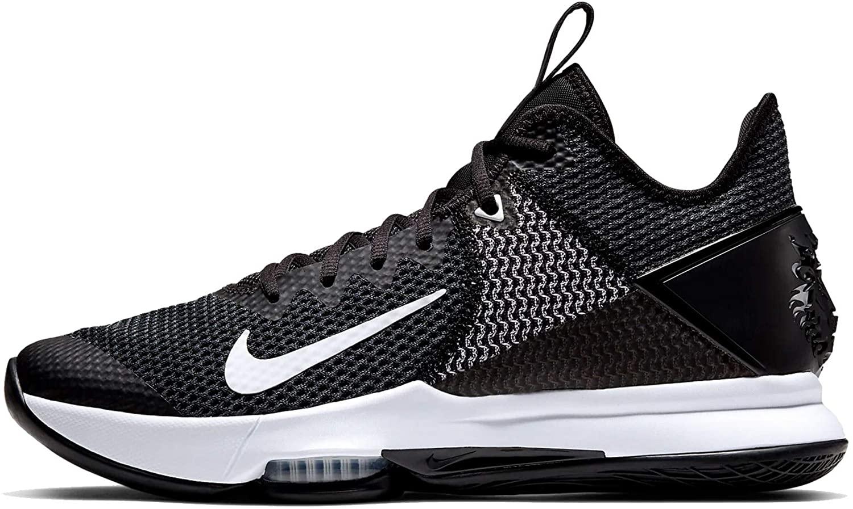 Nike Men's Basketball Shoes, Multicoloured Black White Iron Grey Pure Platinum 001, 12 UK