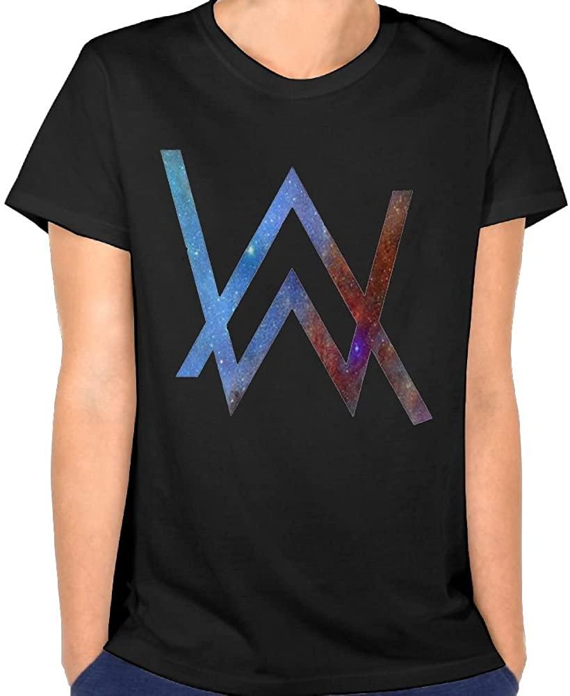 Vito H. Jackson Women's Cotton Short-Sleeved T-Shirt Alan Walker Logo Personalized Fashion Customization Black
