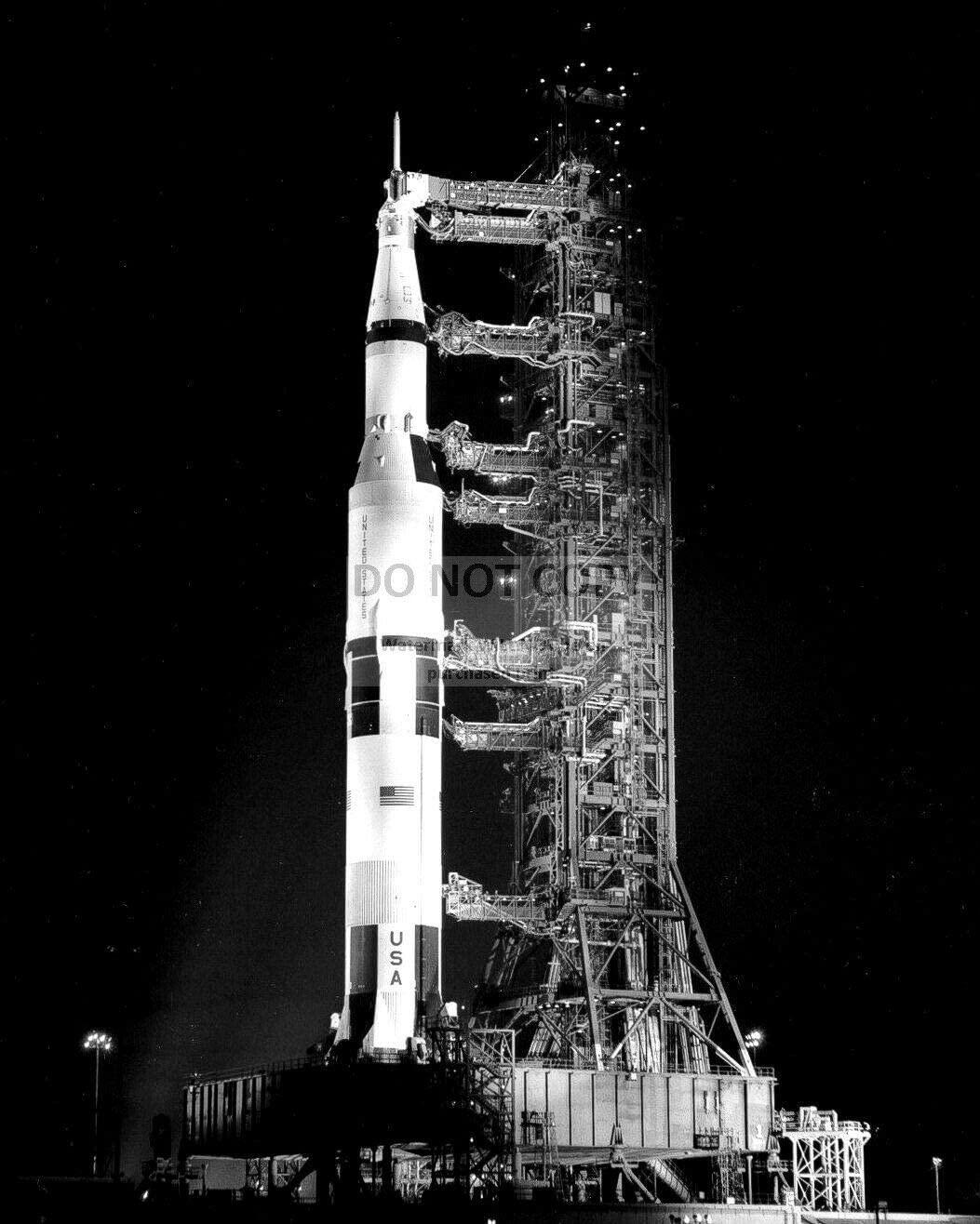 bucraft Saturn V 5 Rocket ON Launch PAD - 8X10 NASA Photo (BB-967)