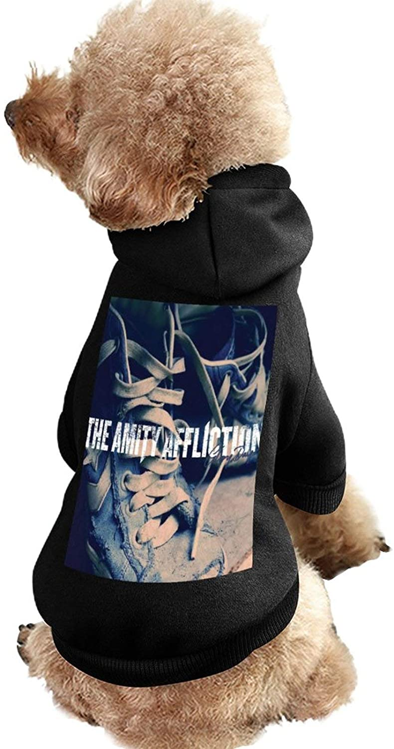 MissYo The Amity Affliction Dog Coat with Hat Funny Costume Winter Soft Dog Jumpsuit Pet Sweater Coat