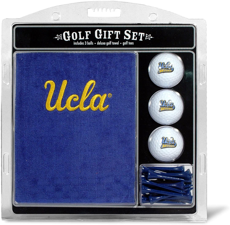 Team Golf NCAA UCLA Bruins Gift Set Embroidered Golf Towel, 3 Golf Balls, and 14 Golf Tees 2-3/4