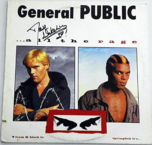 General Public All The Rage Dave Wakeling Autographed Record Alb AFTAL