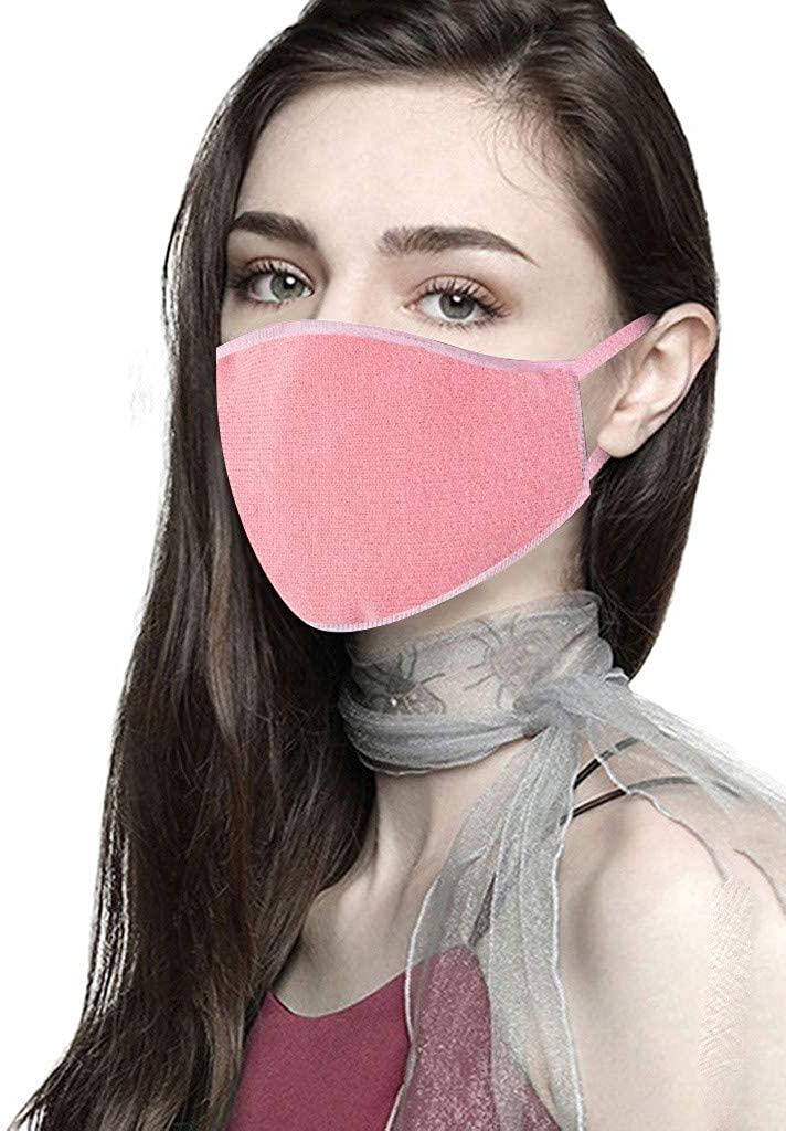 Reusable Fabric Polka Dot Face Bandana Washable Cloth for Adults Unisex