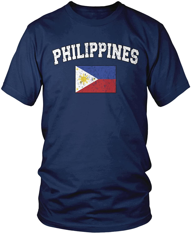Amdesco Mens Philippines Flag, Filipinas Philippine Flag T-Shirt
