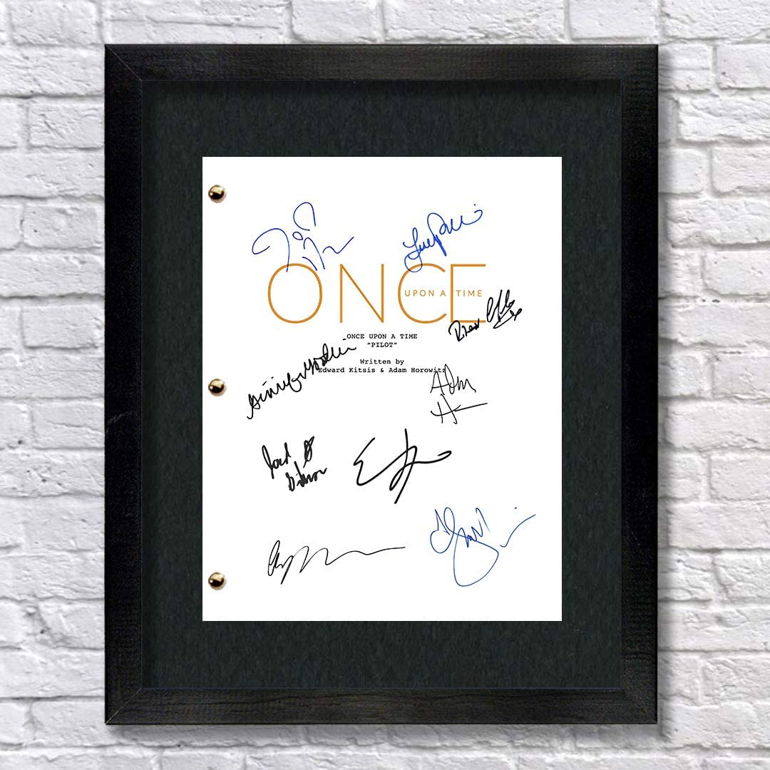 Once Upon A Time TV Autographed Signed Reprint 8.5x11 Script UNFRAMED - OUAT Ginnifer Goodwin, Jennifer Morrison, Lana Parrilla
