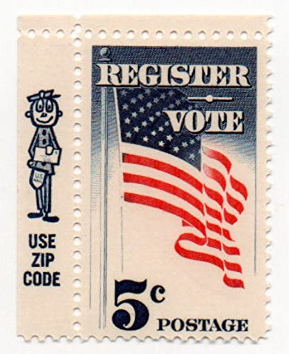 US Postage Stamp Single 1964 Register And Vote With Zip Code Issue 5 Cent Scott #1249