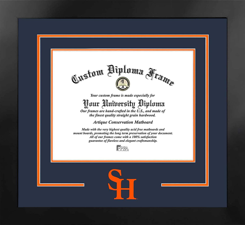 Campus Images NCAA Sam Houston State Bearkats Unisex Spirit Diploma Manhattan Black Frame with Bonus Lithograph, Black, One Size