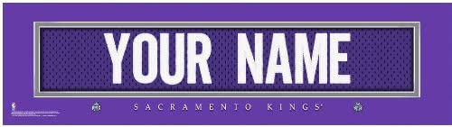 NBA Jersey Stitch Print Sacramento Kings Personalized Framed