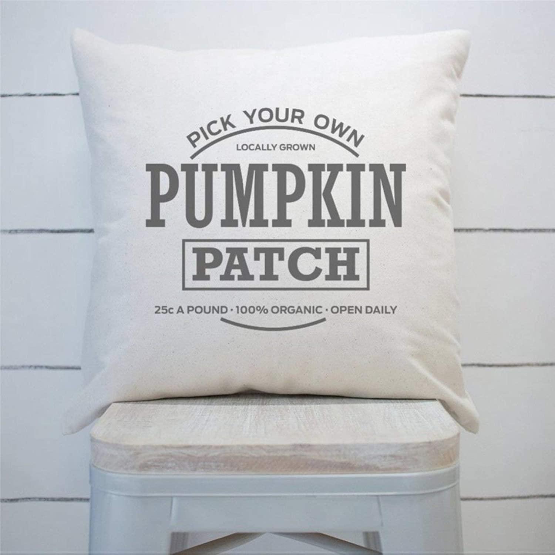 DONL9BAUER Pumpkin Patch Farmhouse Cushion Cover Fall Autumn Decor,Halloween Decorative Throw Pillow Covers for Sofa Couch 18