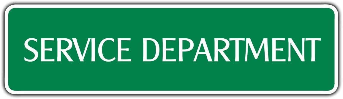 yyone Retro Metal Signs, Service Department Street Sign Motorcycle Car Bike Shop Garage Car Dealership 4