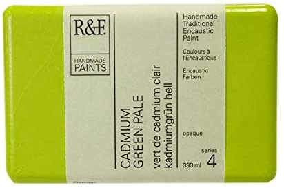 R&F 1248 Encaustic Paint 333ml, Cadmium Green Pale