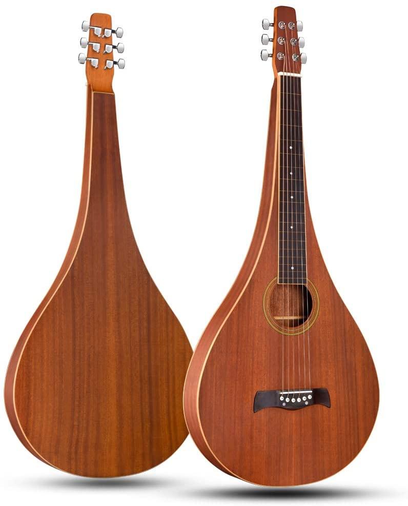 ADM Hawaiian Weissenborn Classic Acoustic Lap Steel Guitar for Enthusiasts
