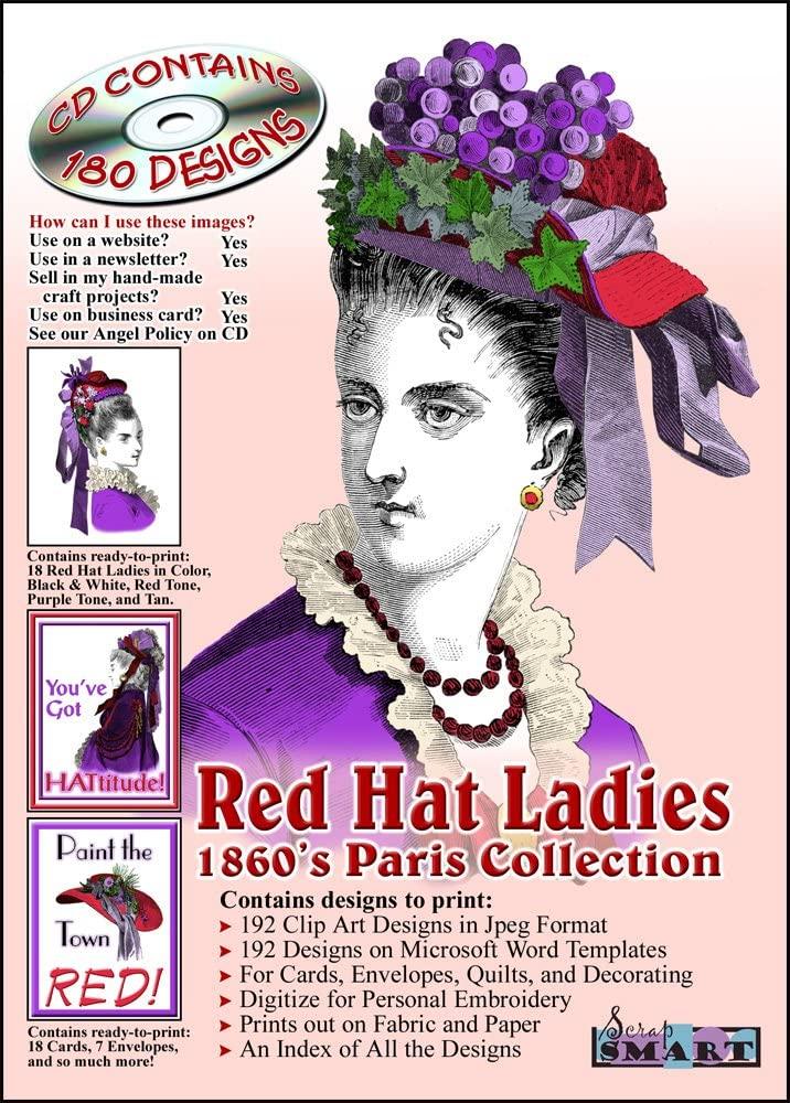 ScrapSMART - Red Hat Ladies 1860's Paris Collection Software - Jpeg & Microsoft Word Files for Mac [Download]